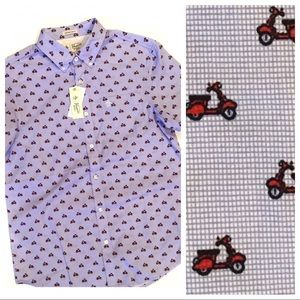 🛵 Original Penguin Scooter Button Down Shirt NWT